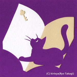 見本「本と猫」